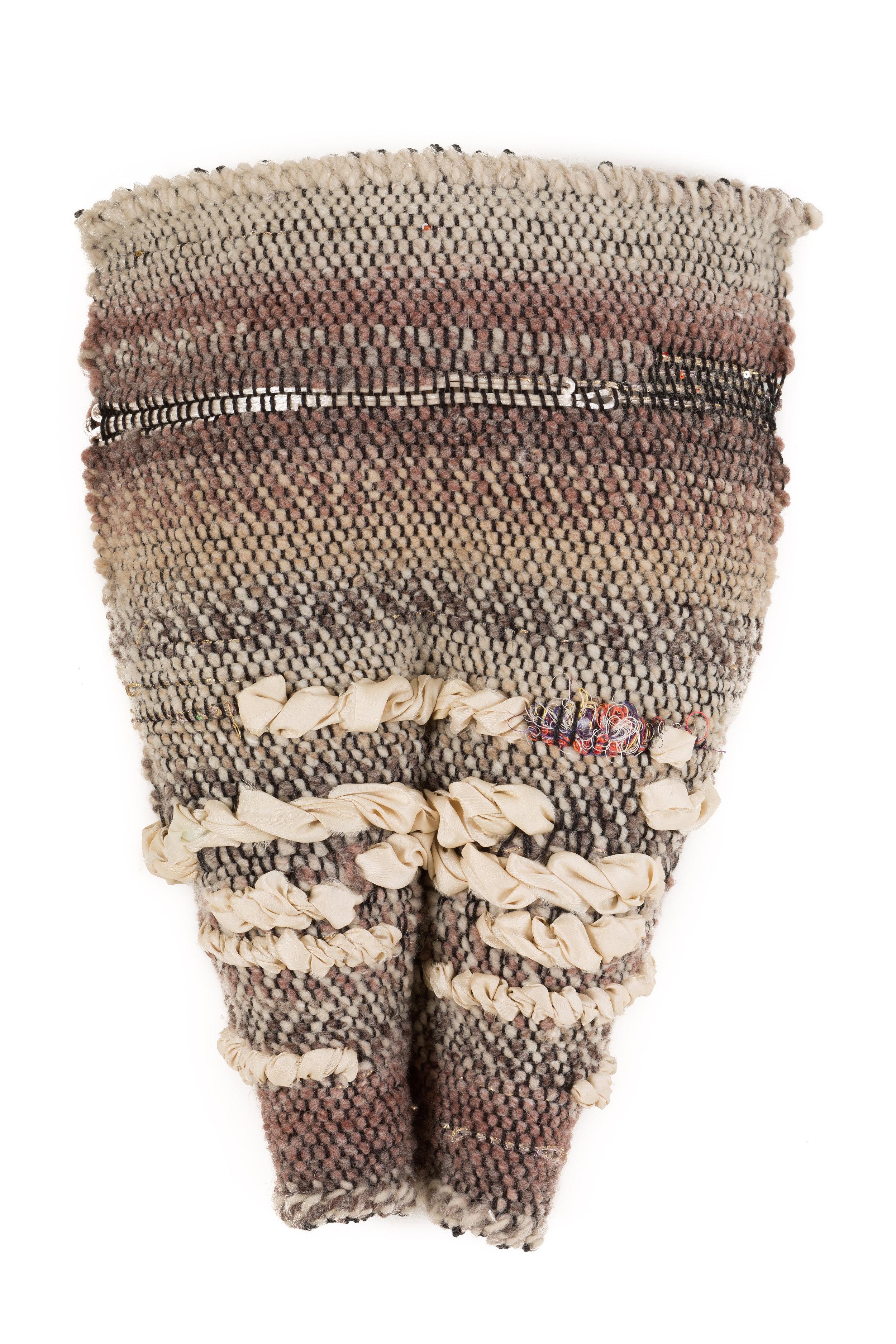 Sylvia Vander Sluis,  Contentment (Pelvis series)  Handwoven yarn and silk, 19x12x4