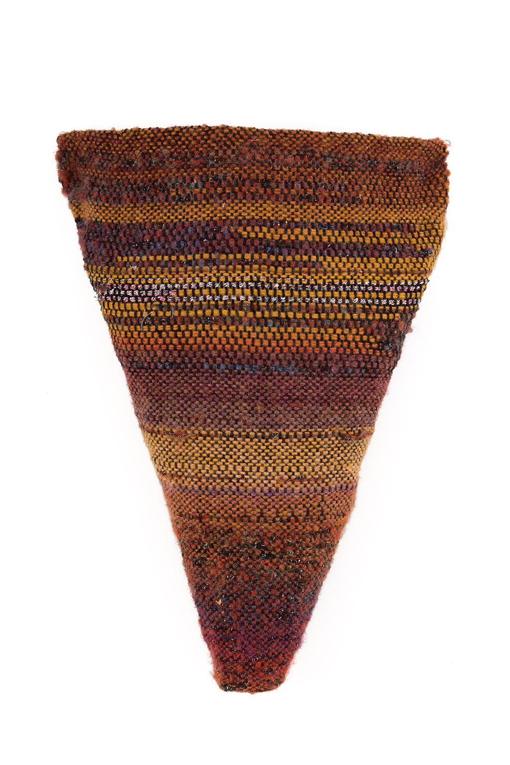 Sylvia Vander Sluis,  Earthy Torso 1,  Handwoven wool, beads, 17x13x3