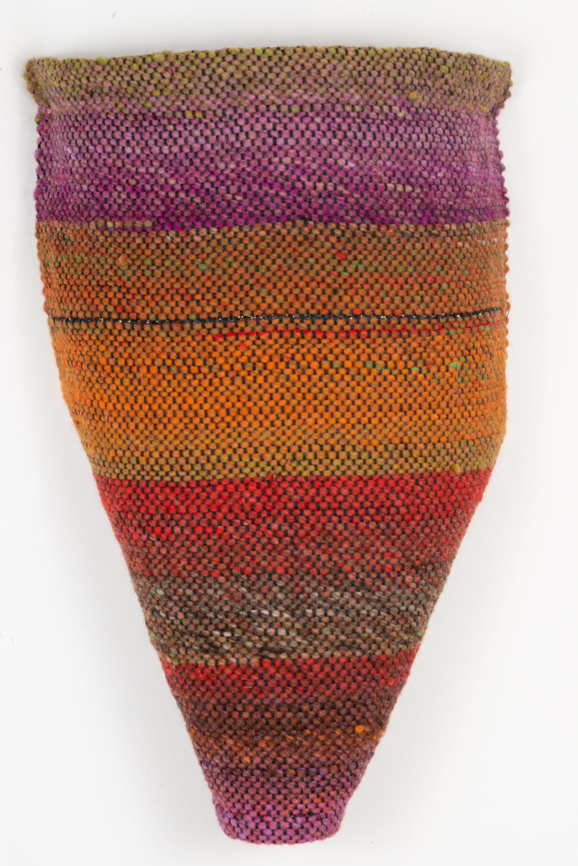Sylvia Vander Sluis,  Earthy Torso 2,  Handwoven wool, 17x14x4