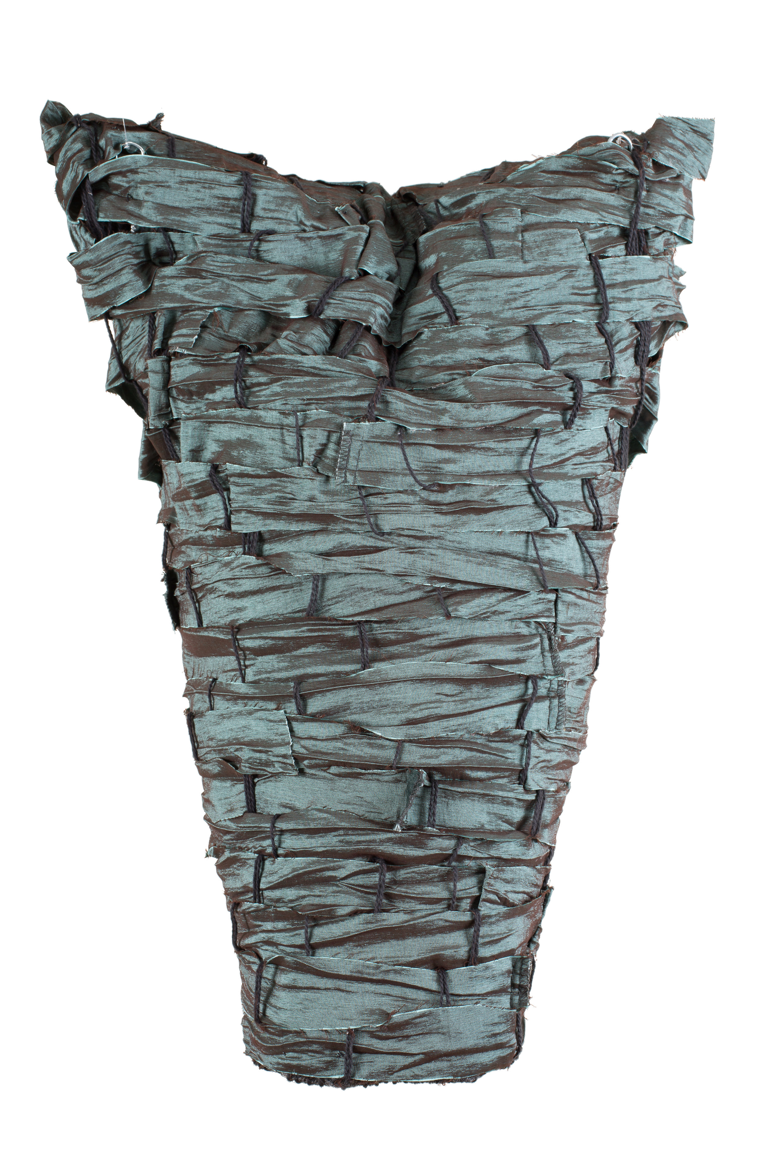 Sylvia Vander Sluis,  Strong and Beautiful,  Handwoven polyester/nylon, 19x14x6
