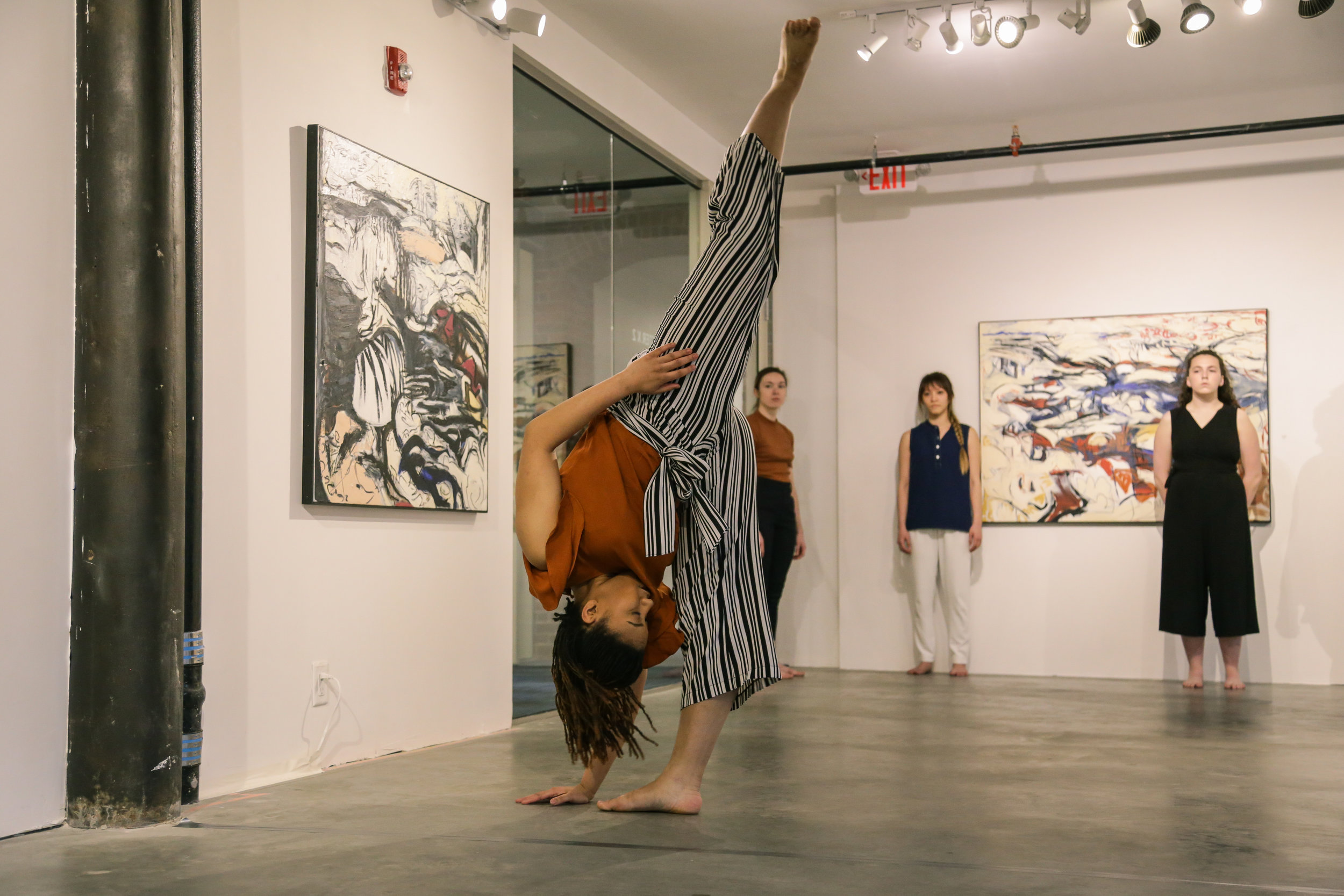 Artistic Director/Choreographer/Dancer Victoria Lynn Awkward performs with VLA Dance. Photo by Olivia Moon Photography.
