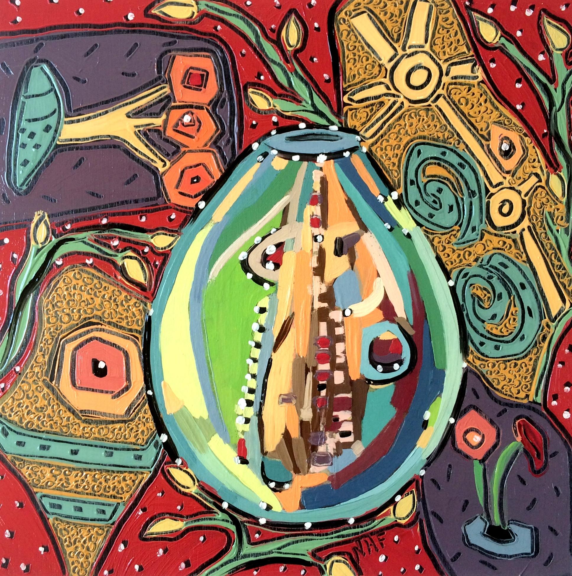 Nan Hass Feldman,  Vessels in Dreamtime 13 , Oil on panel, 8x8