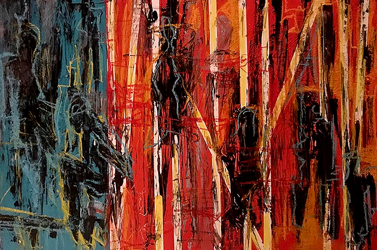 Brigid McGivern,  Caught , Acrylic and soft pastel on panel, 36x24