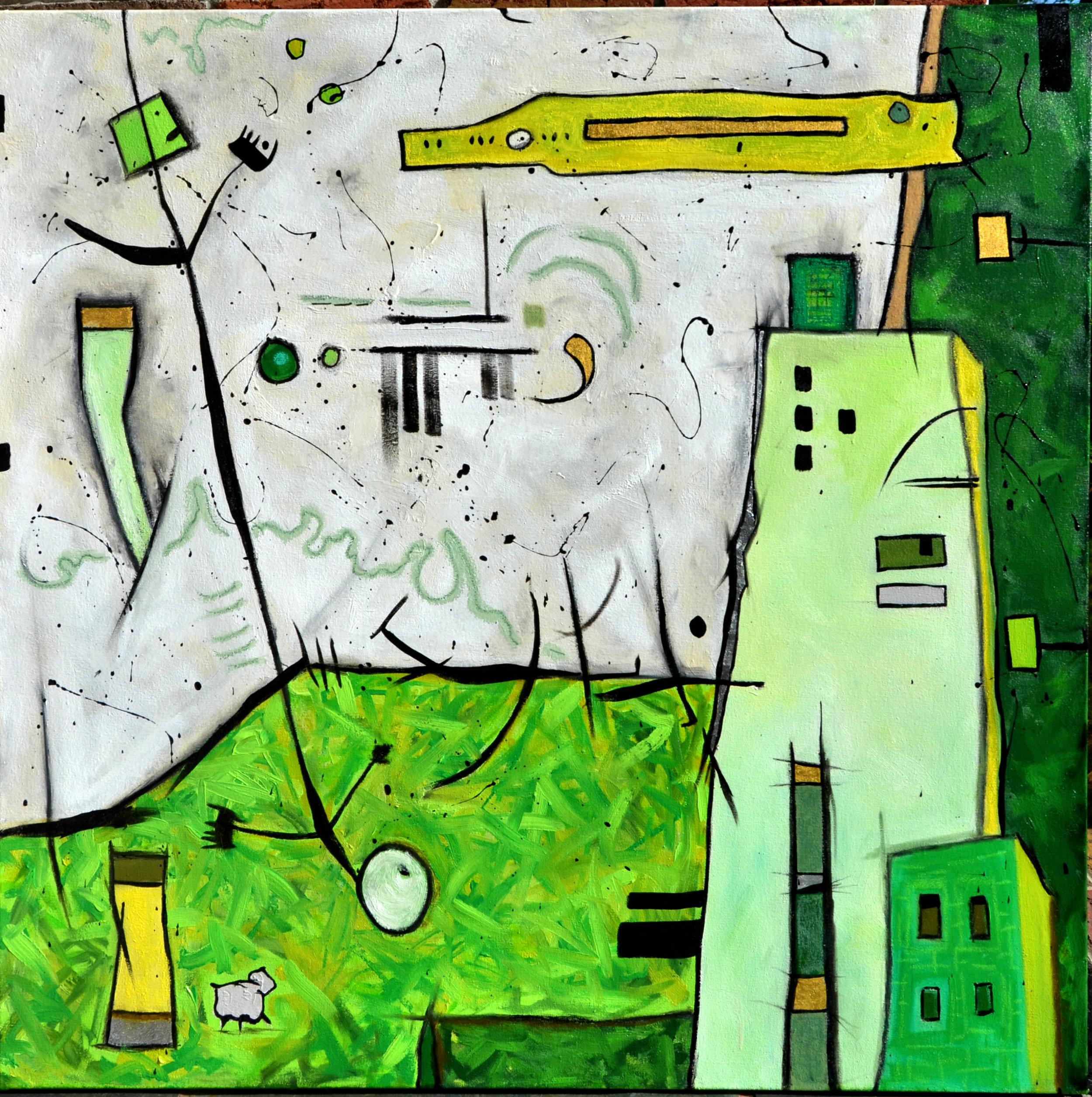 Anita Loomis,  Expedition , Oil on canvas, 40x40