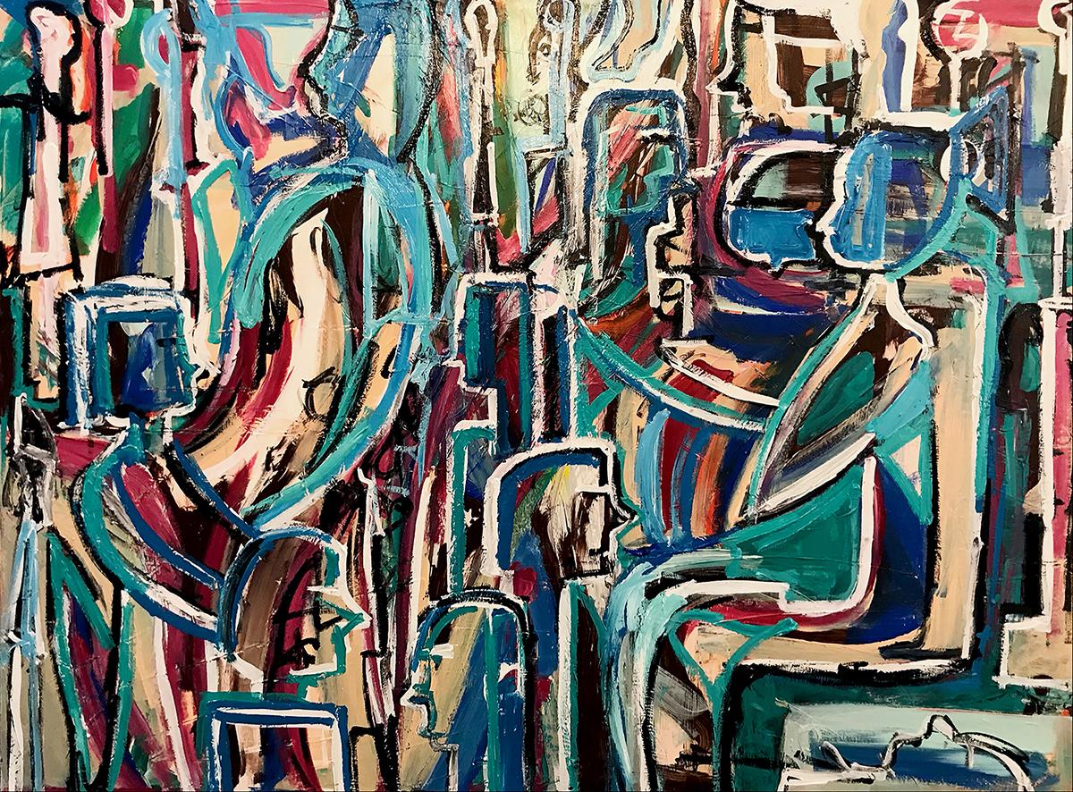 Brigid McGivern,  The Outcast,  Acrylic on canvas, 40x30