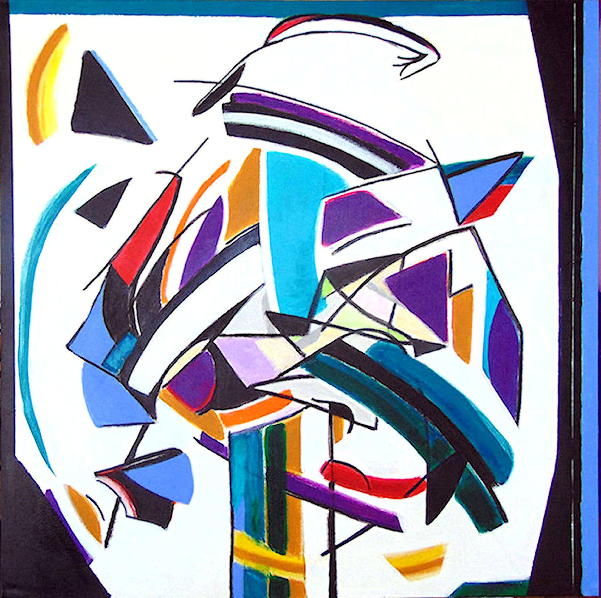 Patricia Paxson,  Idea Tree , Acrylic on canvas, 36x36