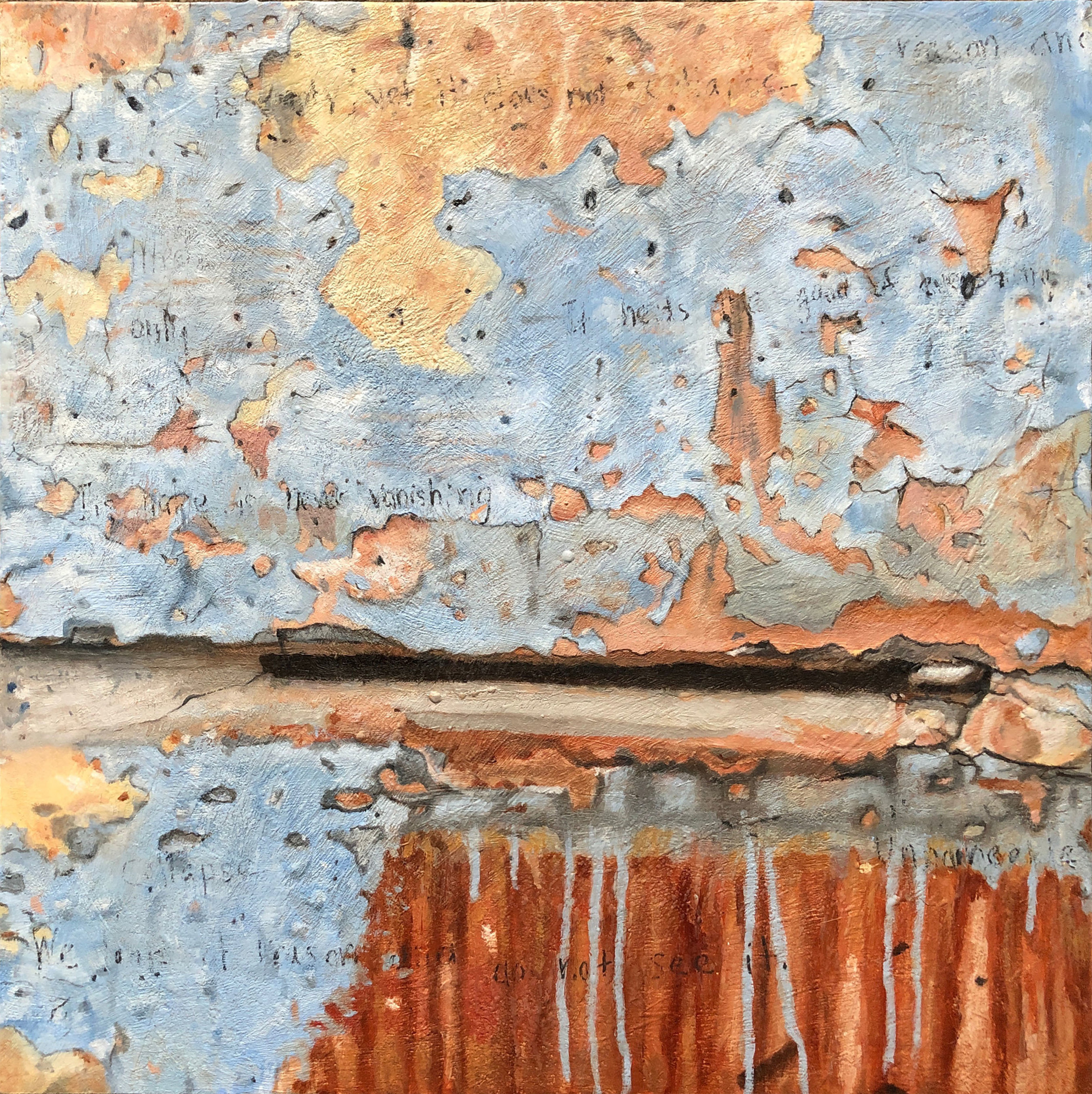 Tracy Spadafora,  Never Vanishing , Encaustic and oil on wood  panel, 24x24