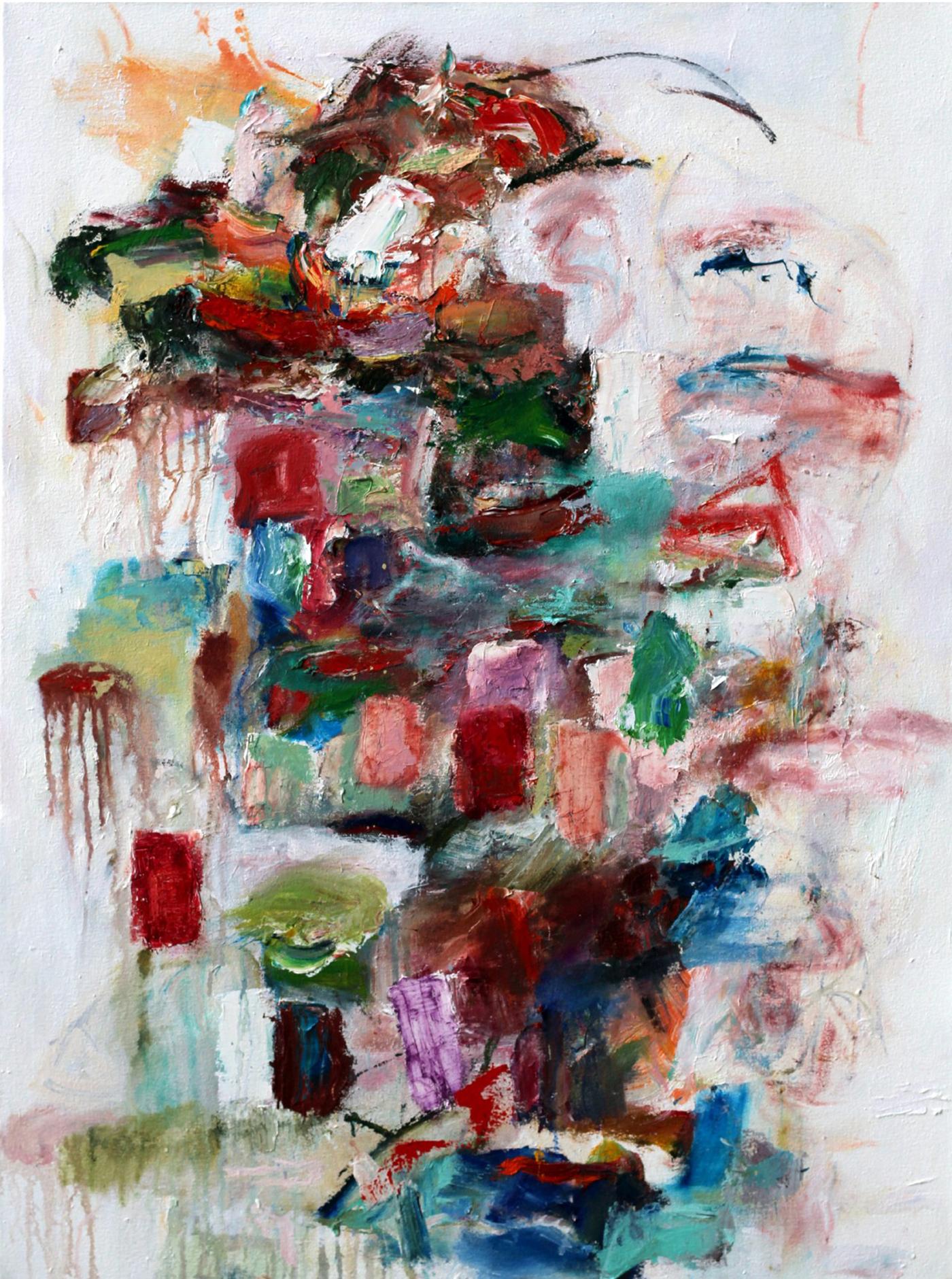 Katherine Borkowski-Byrne,  Building Promises , Oil on canvas, 40x30
