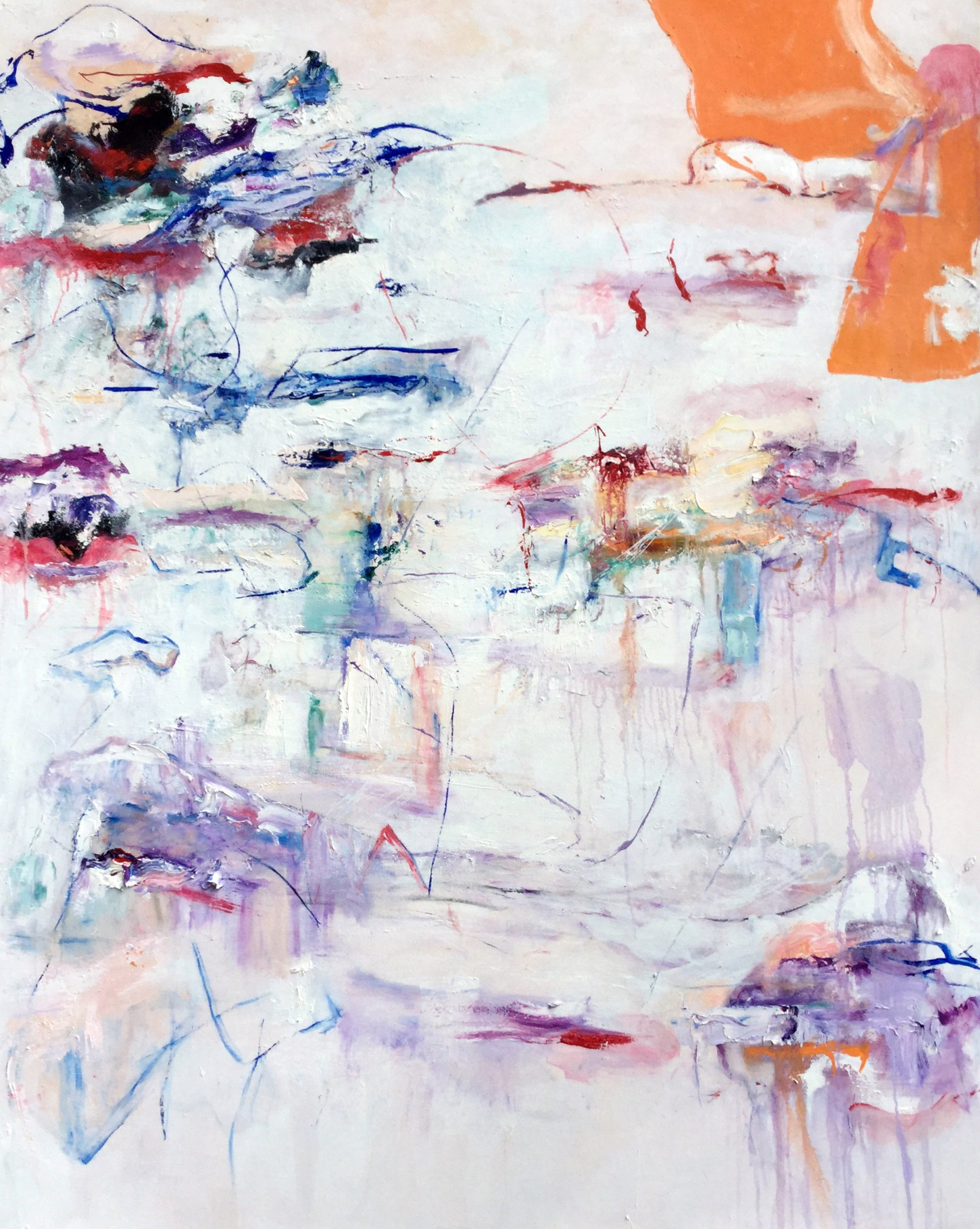 Katherine Borkowski-Byrne,  Notes to Myself , Oil on canvas, 60x48