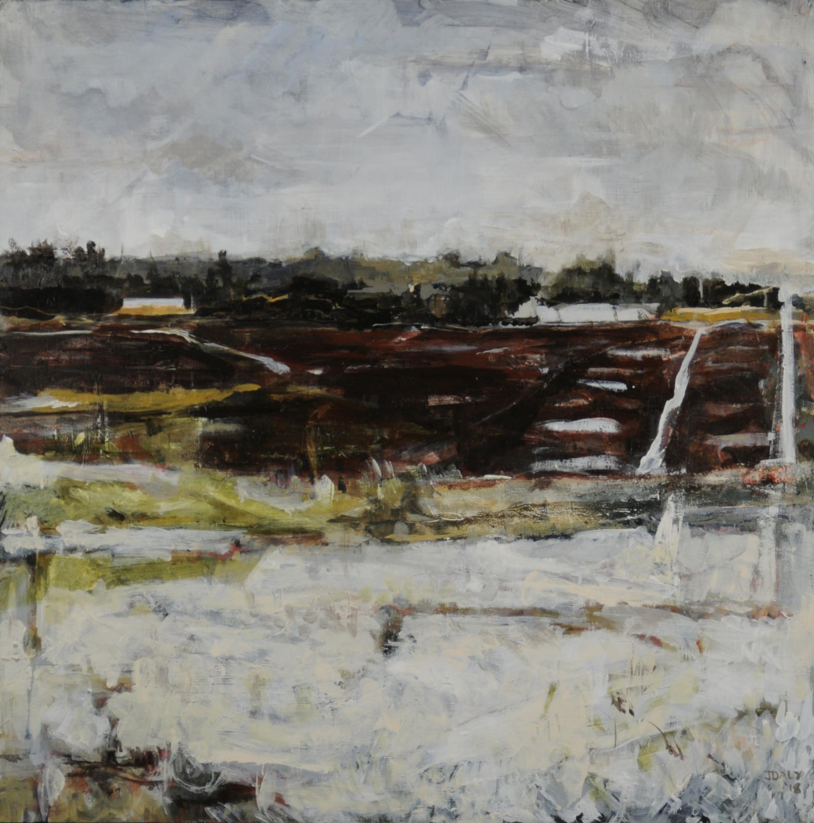 John Daly,  Red Brook I , Acrylic on panel, 24x24