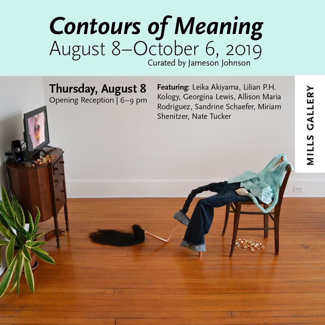 Allison Maria Rodriguez has an installation in  Contours of Meaning