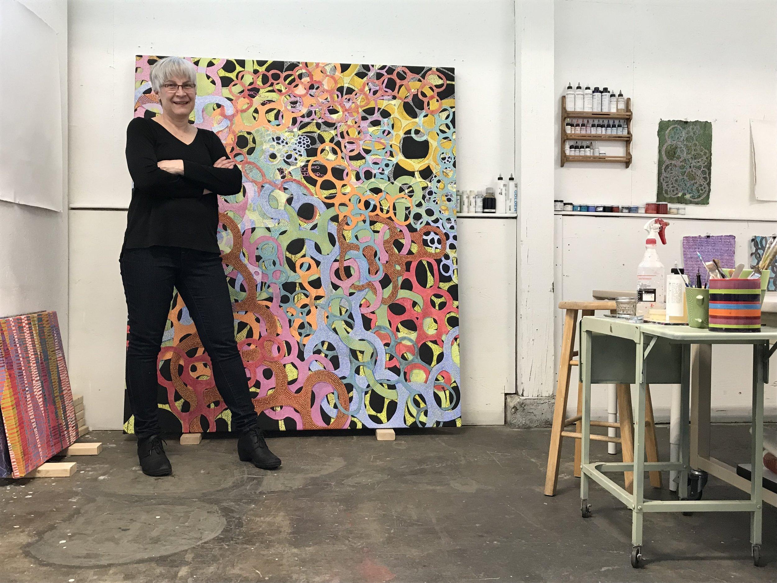 Portrait of Denise in her Studio