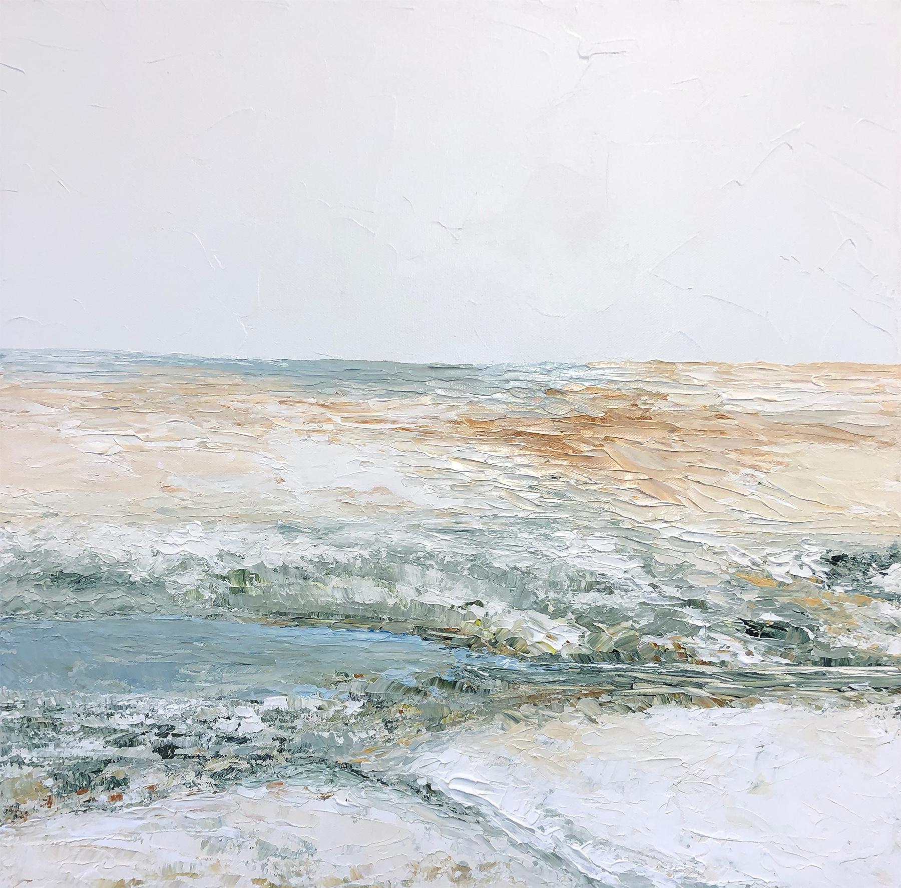 Ocean,  acrylic on canvas, 20 x 20 inches