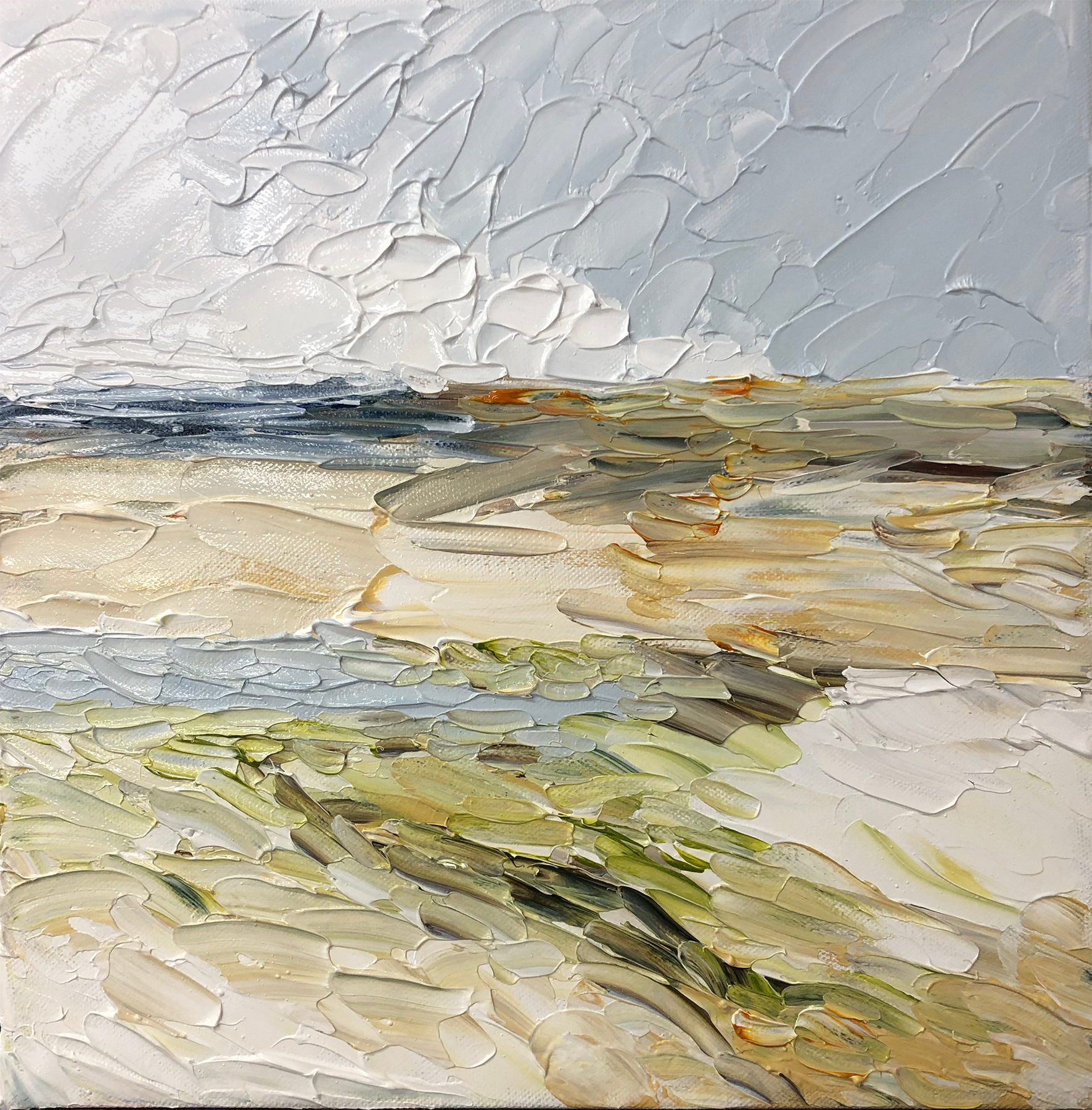 Provincetown, MA, a crylic on canvas, 12 x 12 inches