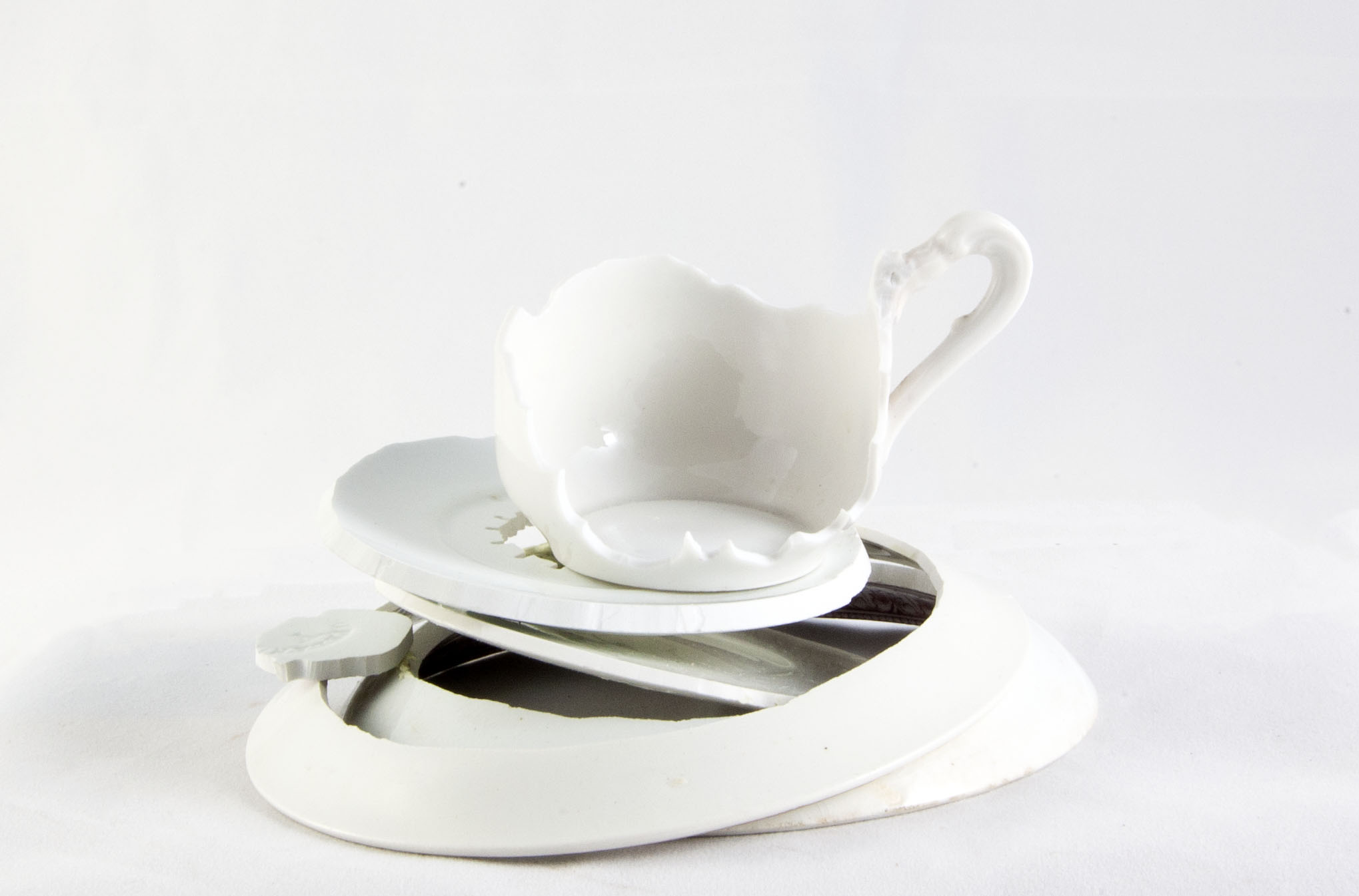 Elizabeth Alexander,  Heirloom: Hopeland , Hand cut found porcelain