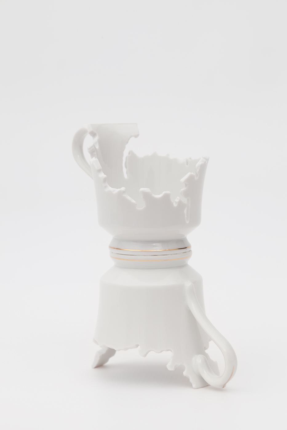 Elizabeth Alexander,  Heirloom: Holly II , Hand cut found porcelain