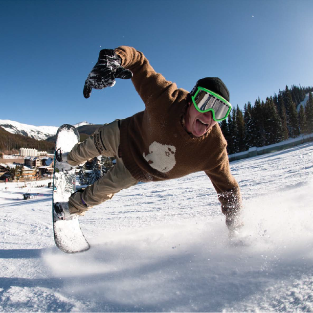 I bet Ben Lynch is excited for Winter Park's opening day. P: Terry Ratzlaff