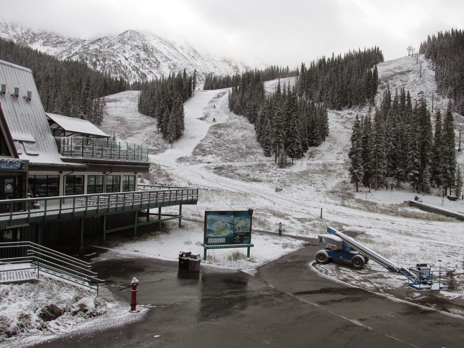 """""""Overnight we received a couple of inches of snow at the bottom and more up high."""" -  Al's Blog"""
