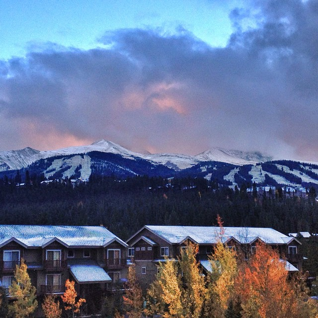 """""""Peaks 9 and 10 look good with snow on them, if we do say so ourselves!  """" - @breckenridgemtn"""