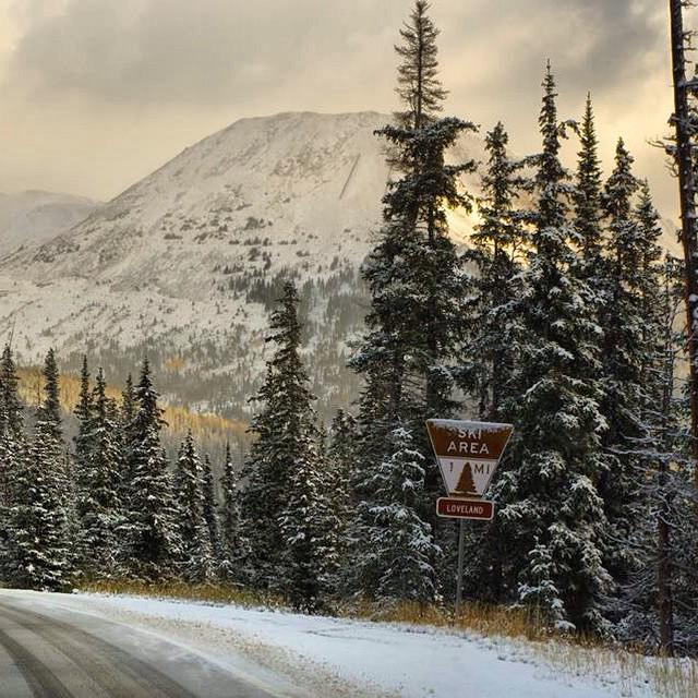 """  4 more inches of #snow at   @lovelandskiarea   Get ready"" - @lovelandskiarea"