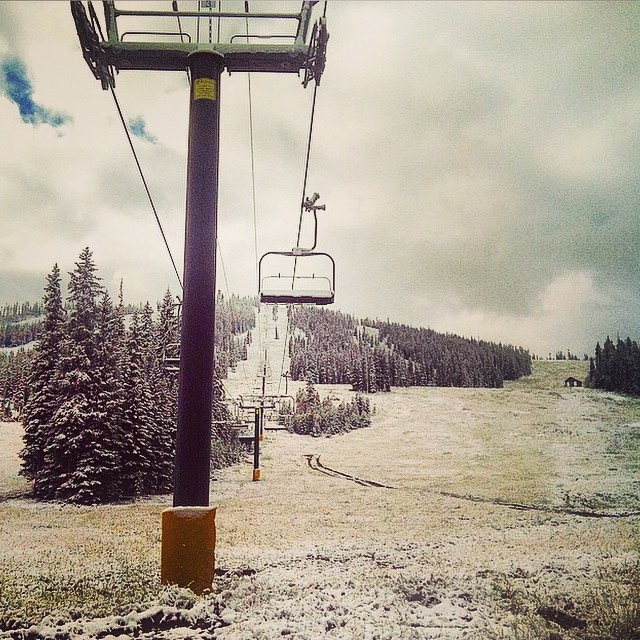 """""""  And with perfect timing, winter rolls into #WinterParkResort just days after summer operations wrapped up. She's a brilliant one, that Mother Nature!"""" - @winterparkresort"""