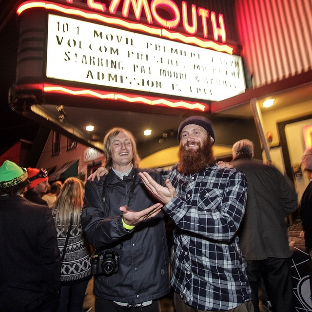 Jake and Pat at the World Premiere of Mr. Plant in Plymouth, NH P: @volcomsnow