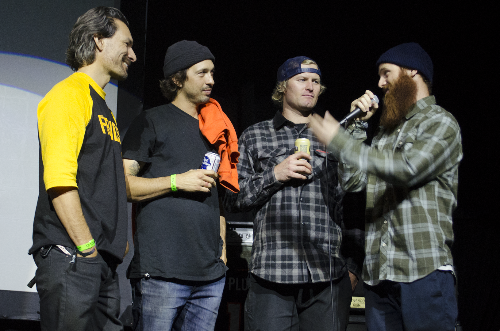 Pat talking about his crew after the showing of Satellite's Crew Battle at Summit Music Hall