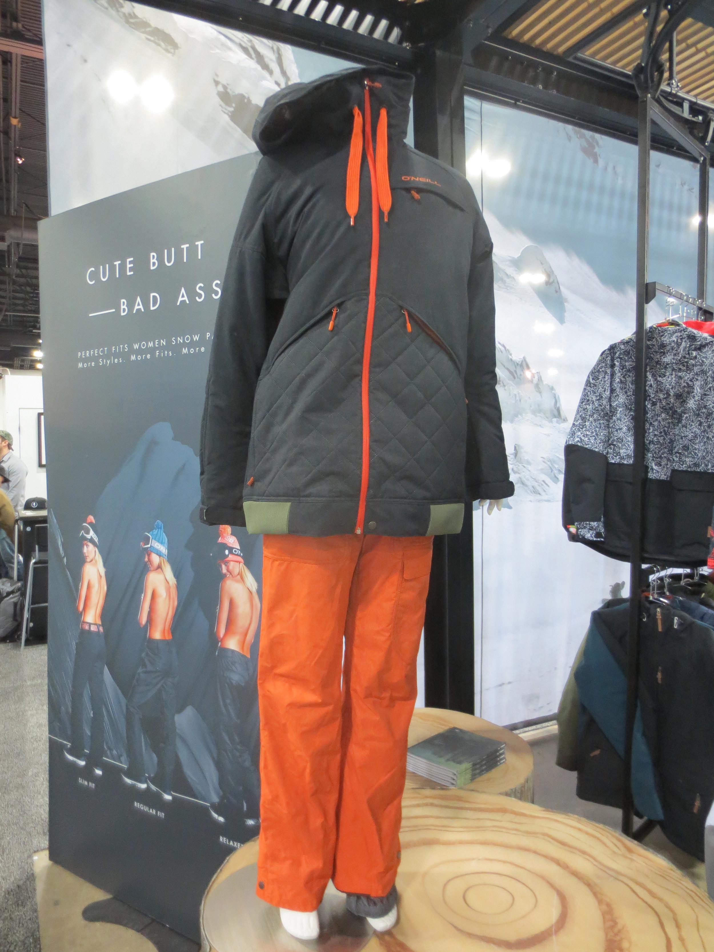 O'Neill's new womens outwear is #cutebuttbadass.