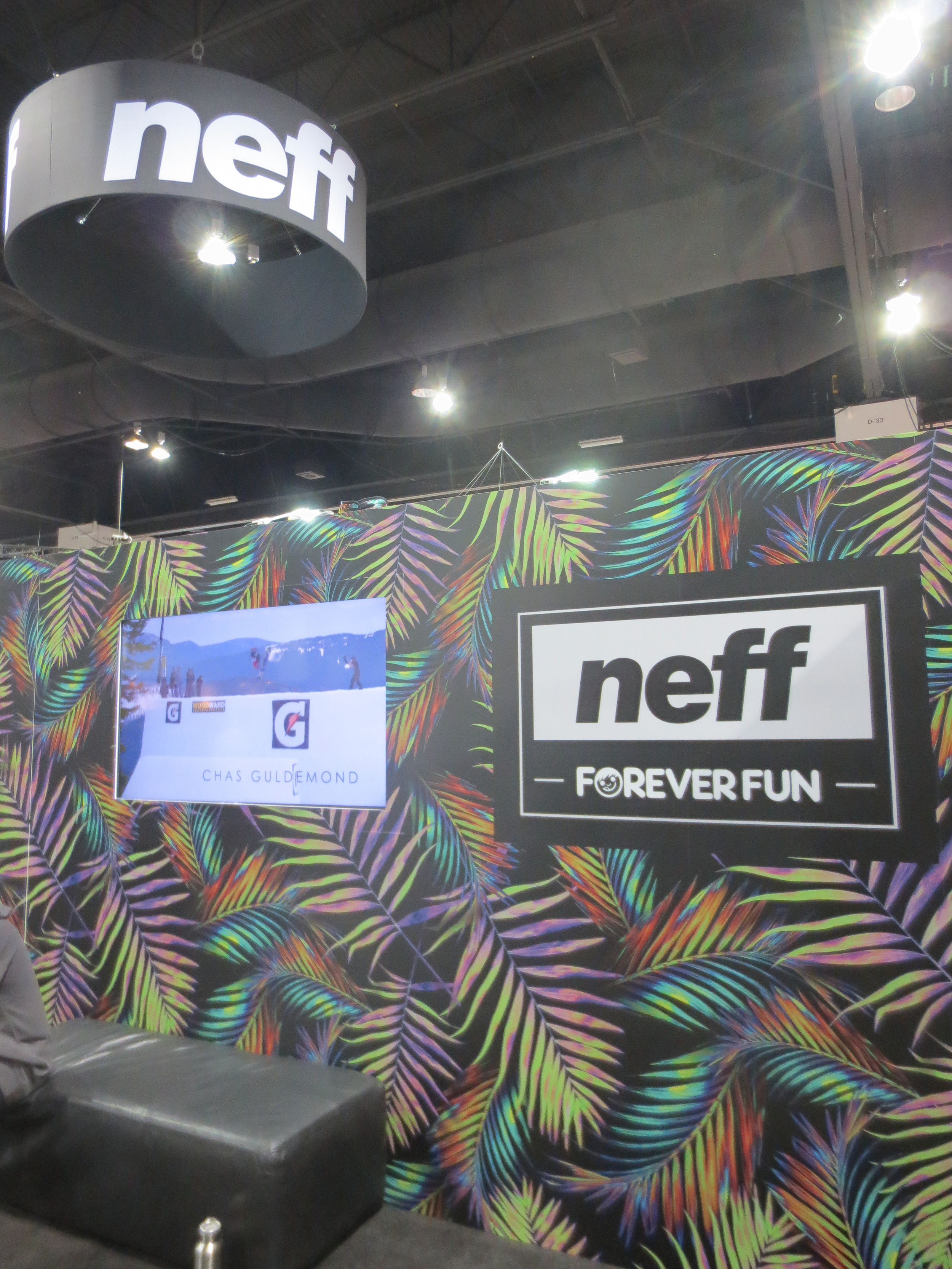 As expected, Neff had one of the more colorful booths at SIA.