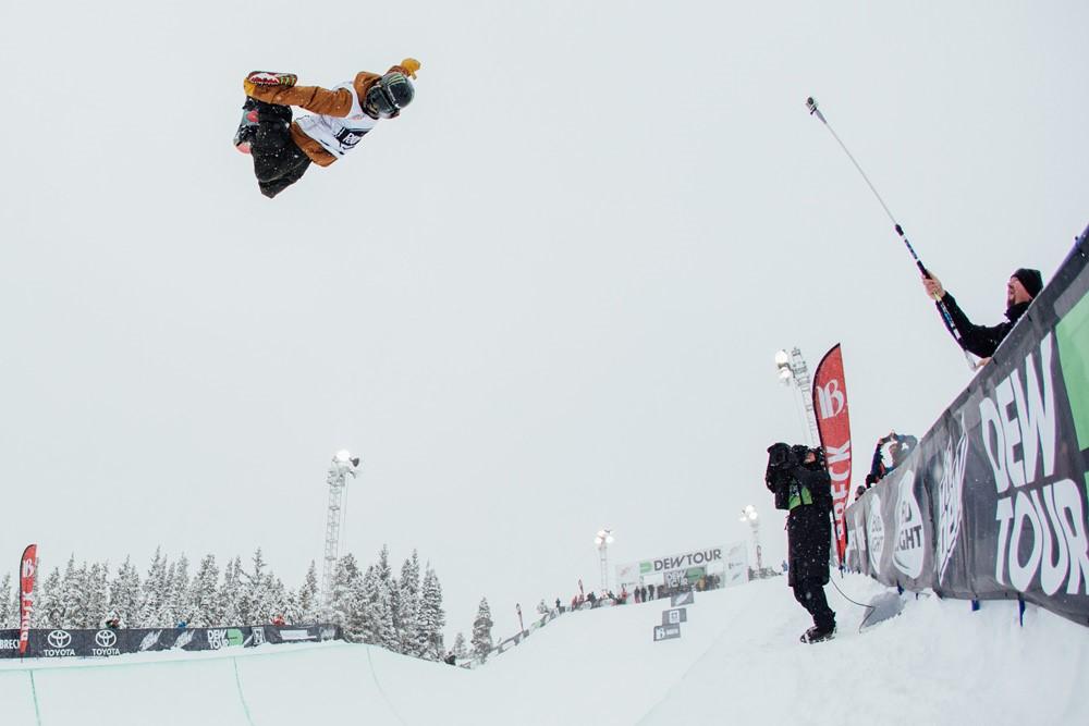 A   yumu Hirano Takes Second Place Snowboard Superpipe | Dew Tour Breckenridge