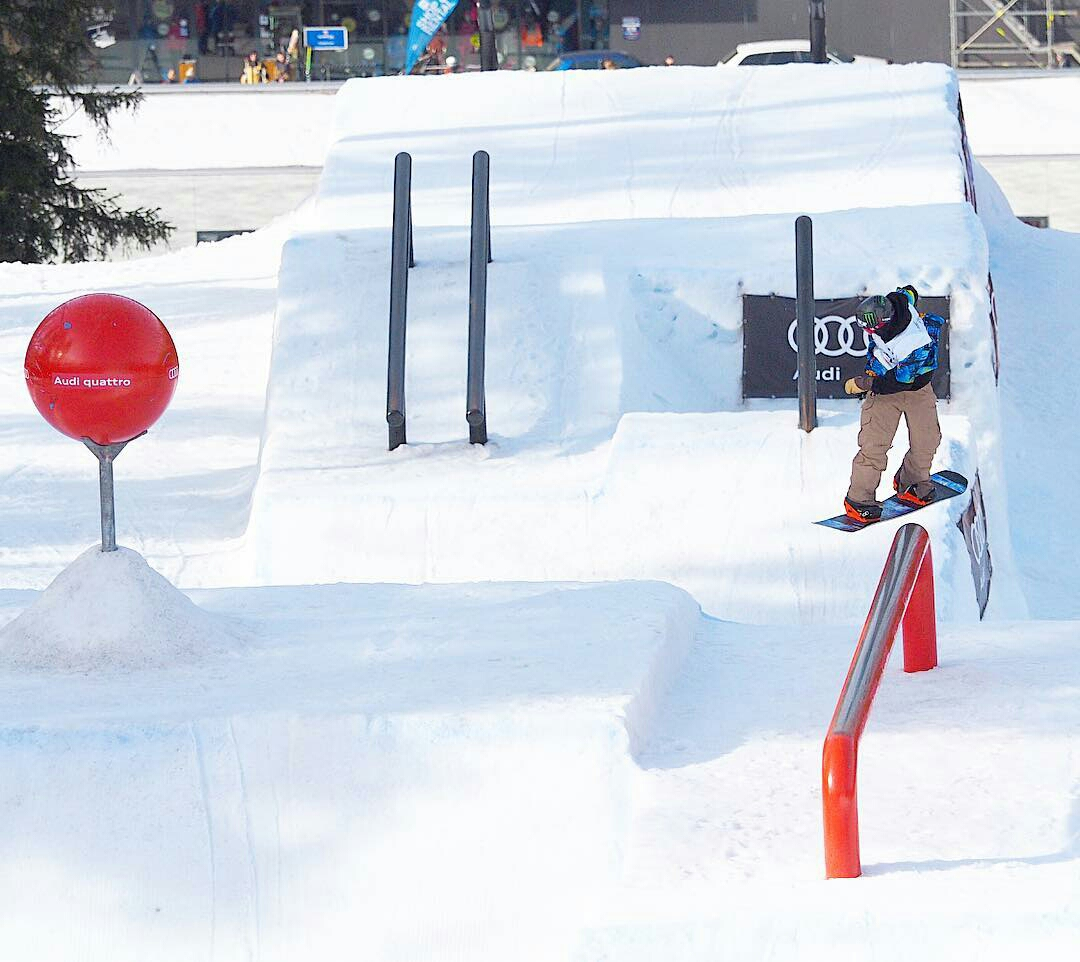 Chris Corning laying down a solid run for the victory | P: US Snowboarding