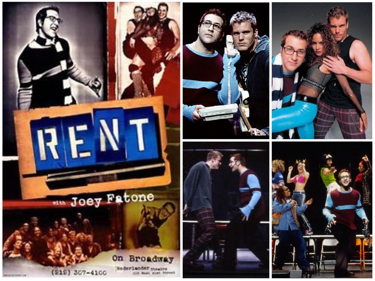 Broadway company with Joey Fatone as Mark