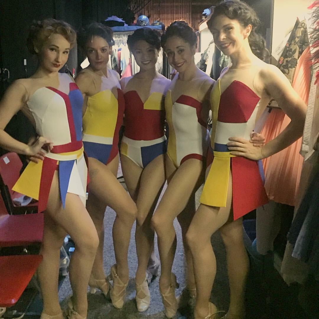 Tour Ensemble Ladies backstage awaiting the American in Paris Ballet scene