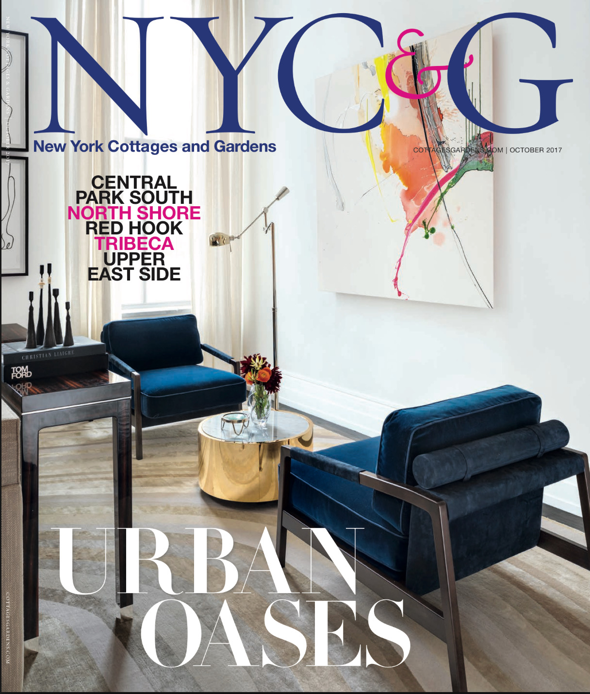 New York Cottages & Gardens Cover Story Oct 17