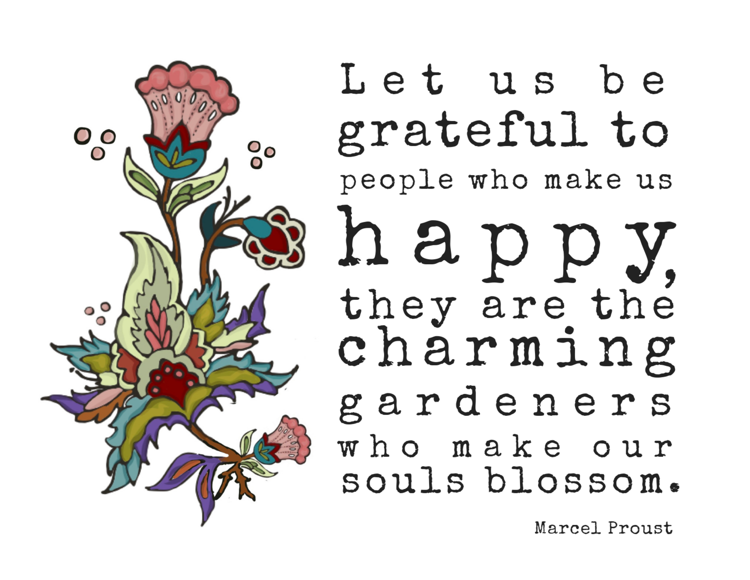 Charming Gardeners - Marcel Proust Quote Card — Newfolk&Cabin