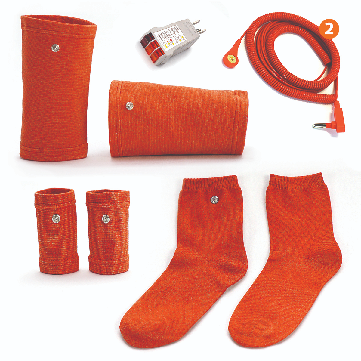 Earthing Wearables  make it easier than ever to achieve an ideal Grounding experience! Made with high quality conductive silver fabric, these socks, wrist bands and knee bands can be used anywhere you stretch, do yoga, sit, relax or sleep.