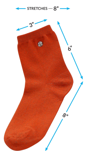 Sizing guide for  Earthing Wearables Socks!