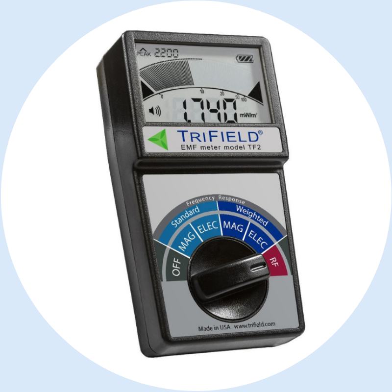 Trifield EMF Meter Model TF2  - The TriField Meter is the most economical combination of magnetic, electric, and analog radio/microwave detection in one package.