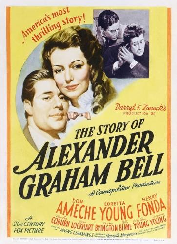 Movie poster - The Story of Alexander Graham Bell, Twentieth Century-Fox, 1939