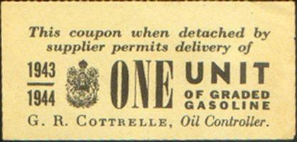 Gasoline ration coupon