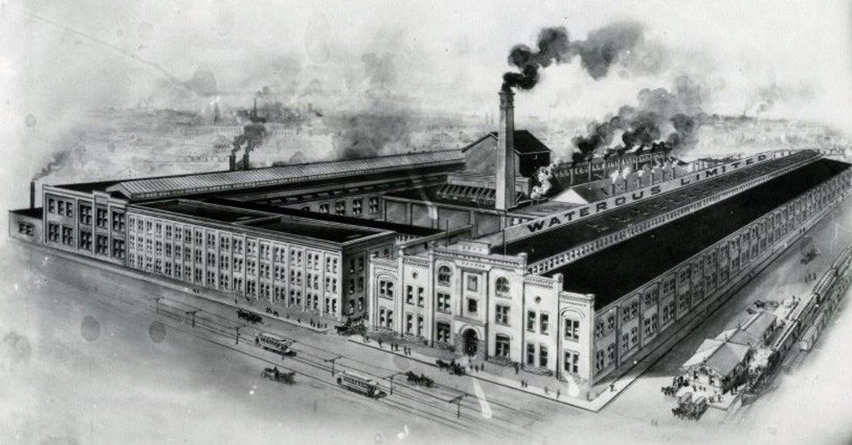 The Waterous factory complex on Market Street across from the present day Civic Centre.
