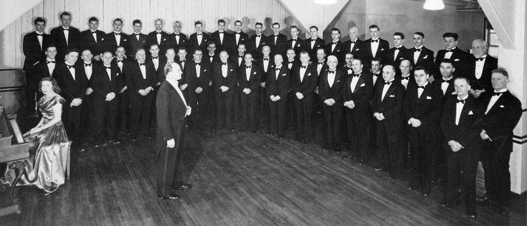 Cockshutt Male Choir in 1950.  Image courtesy of the Brant Historical Society