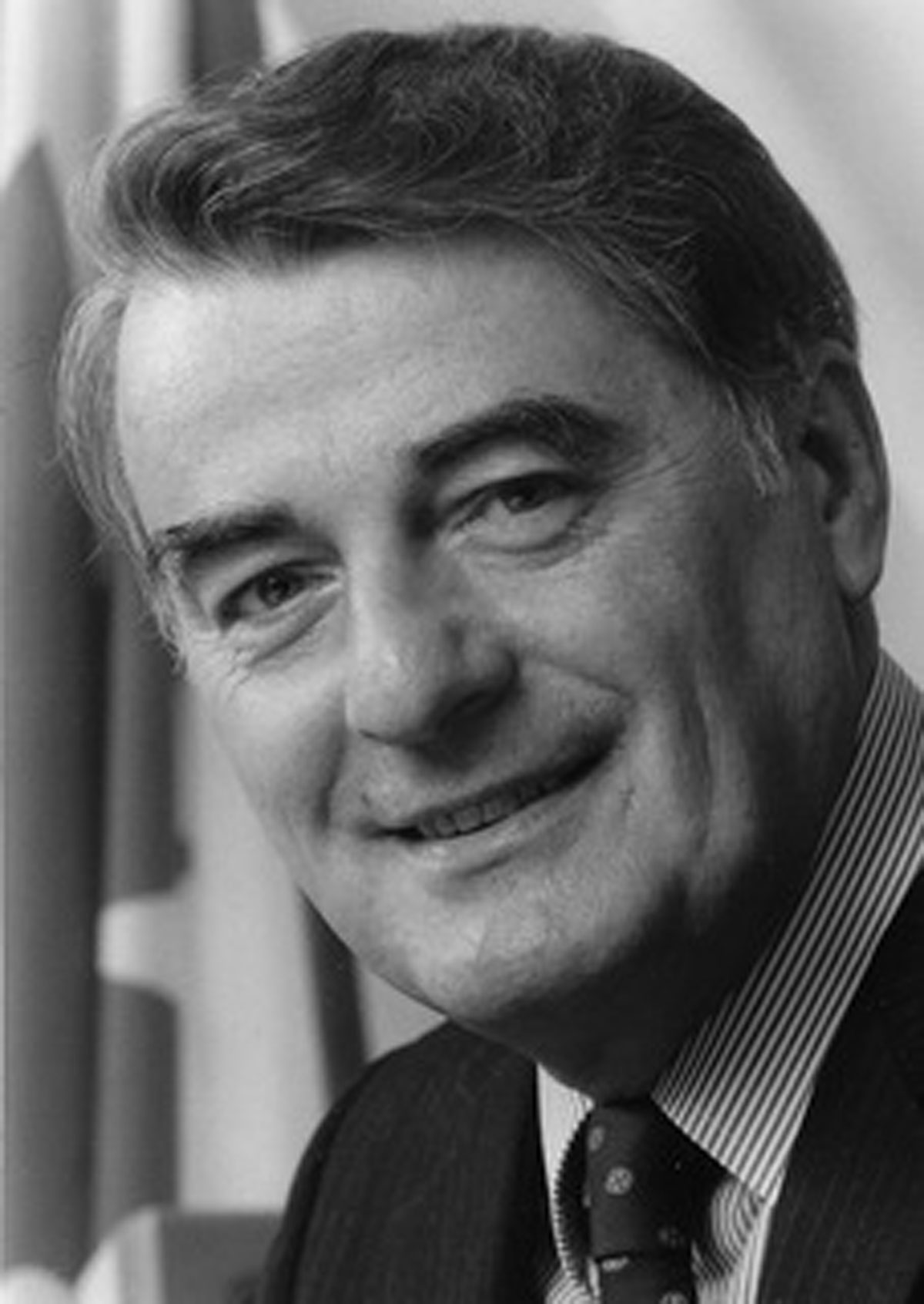 Derek Blackburn (1934 - 2017) was the New Democratic Party MP for the federal riding of Brant from 1971 to 1993. Born in Sault Ste. Marie and raised in Stratford, Blackburn was a teacher at Paris District High School before he became MP.  Image courtesy of the Brant Historical Society
