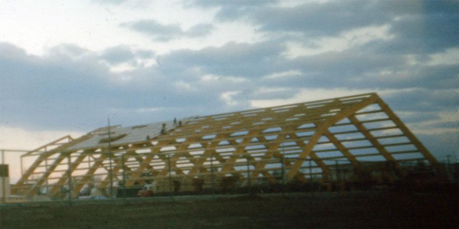 Aquatic Centre. Construction of the Aquatic Centre, 6-November-1973.