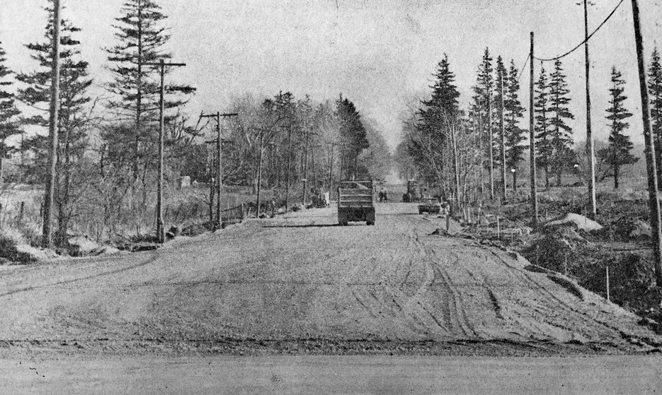 Lynden Road being widened and rebuilt in November-1973 in anticipation of the opening of Lynden park Mall in May and August 1974.