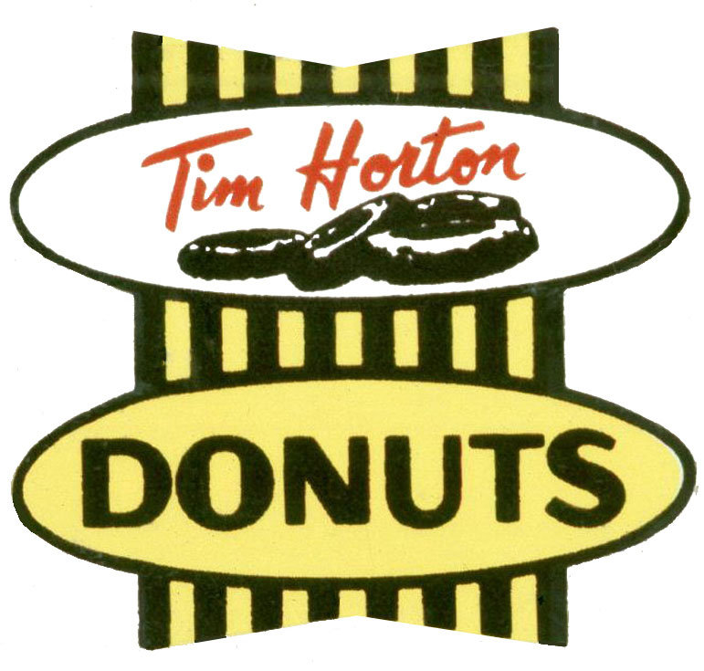 When Tim Horton first opened in Brantford it was known as Tim Horton Donuts. It was later abbreviated to Tim Horton's. In the 1990s the emphasis on Donuts was removed and replaced with Always Fresh. The apostrophe was also dropped.