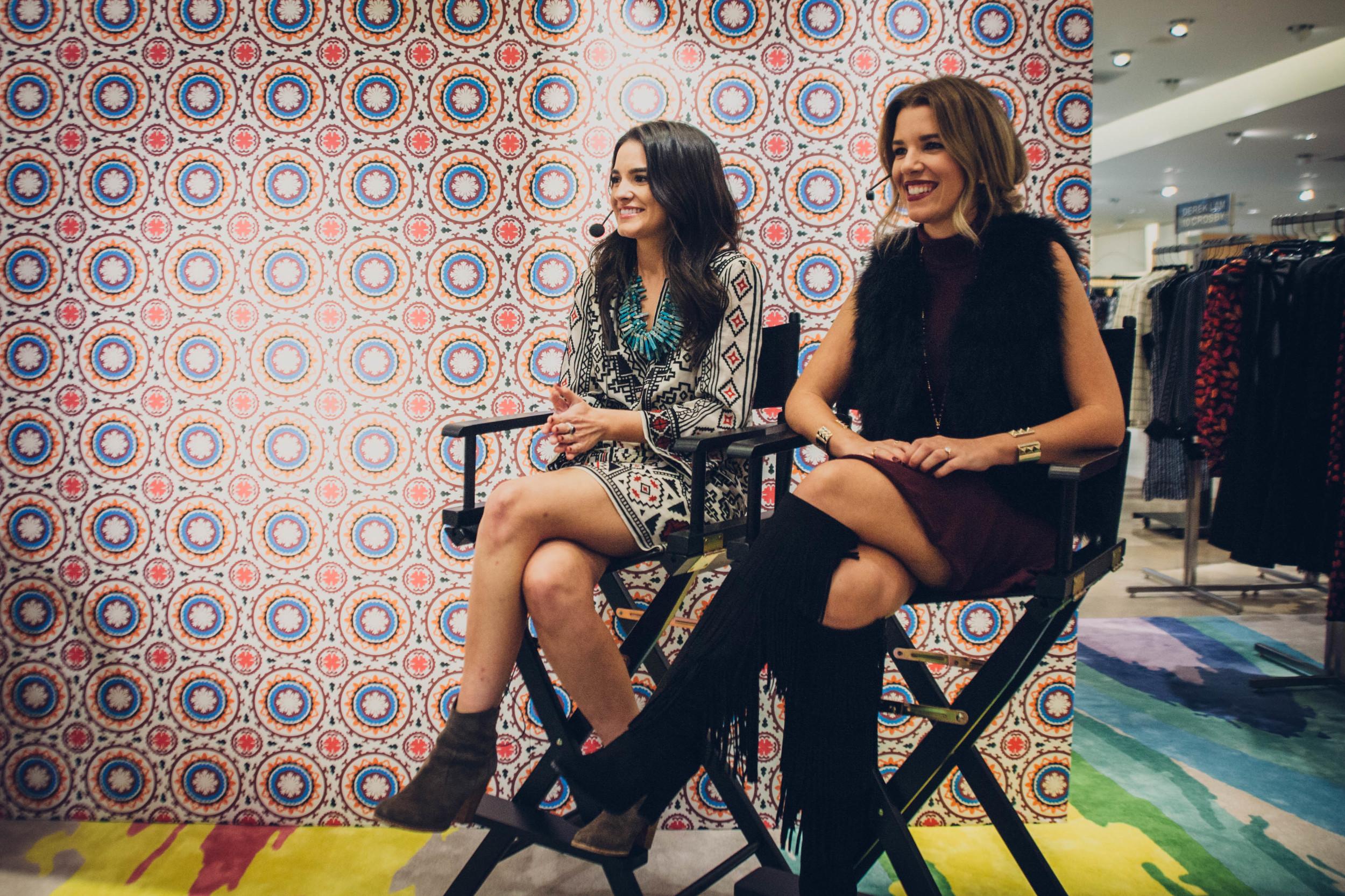 Fashion panelists Jourdan Fuentes & Lo Roberts