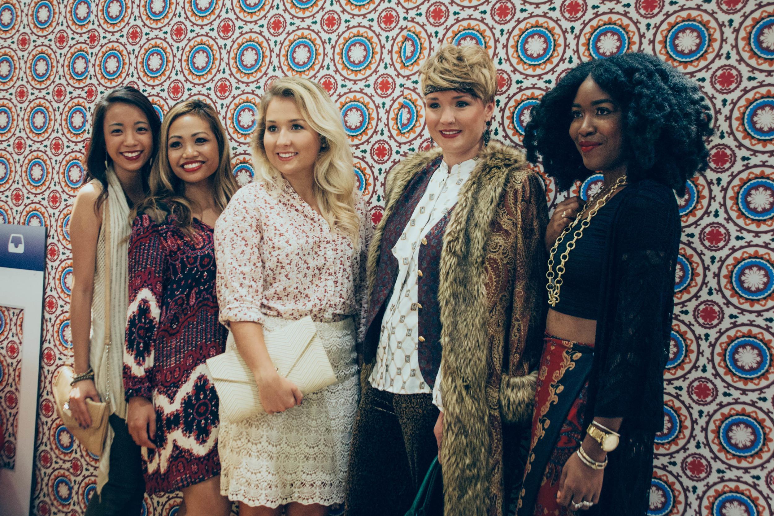 (L to R) Jenn Thai,  This Jenn Girl | Melissa Batto,  CUSP Manager | Sara McPherson,  Sara Magnolia  | Nikki Ellis,  Style Rehab | Airie Lomsak,  Fashion to Live