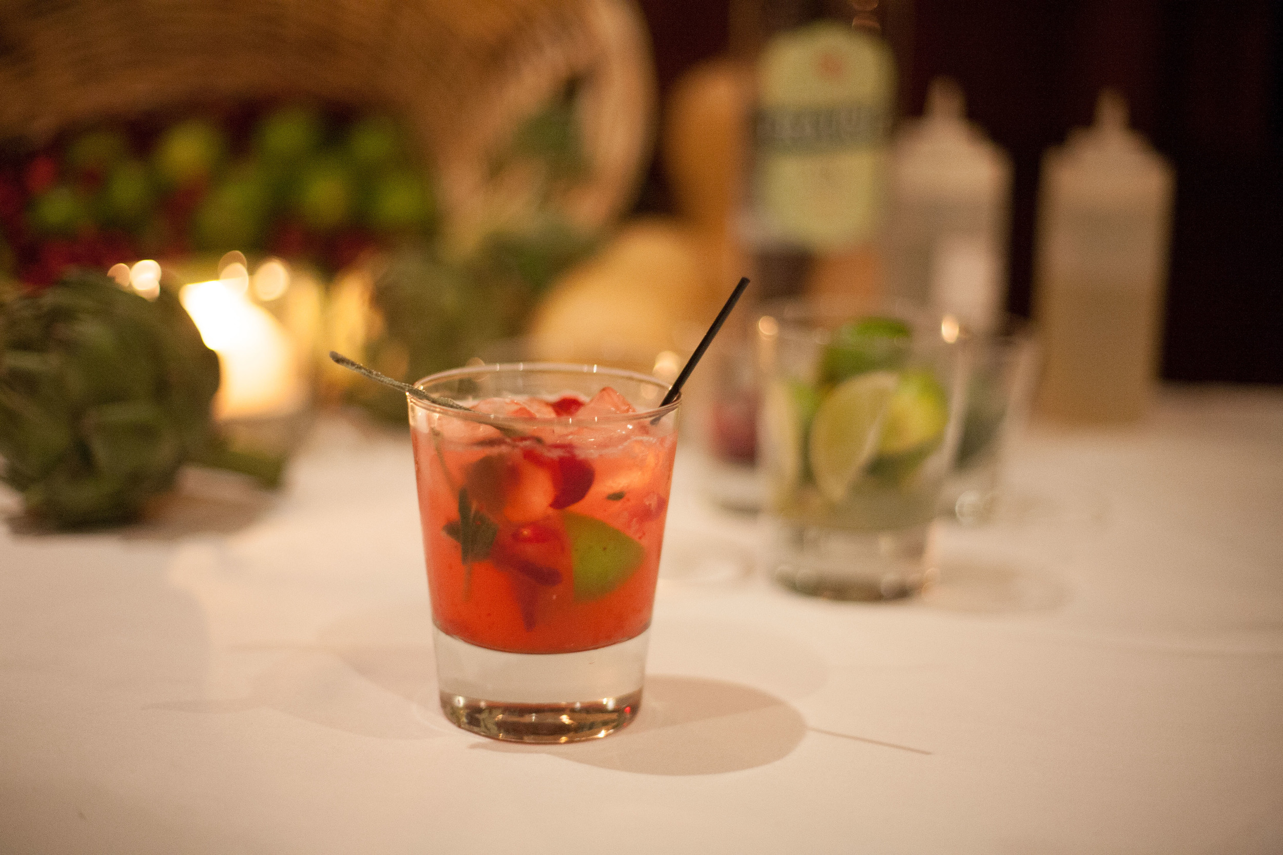 Cranberry & Sage: Prairie Organic Gin, white cranberry juice, fresh cranberries, lime & candied sage leaf.