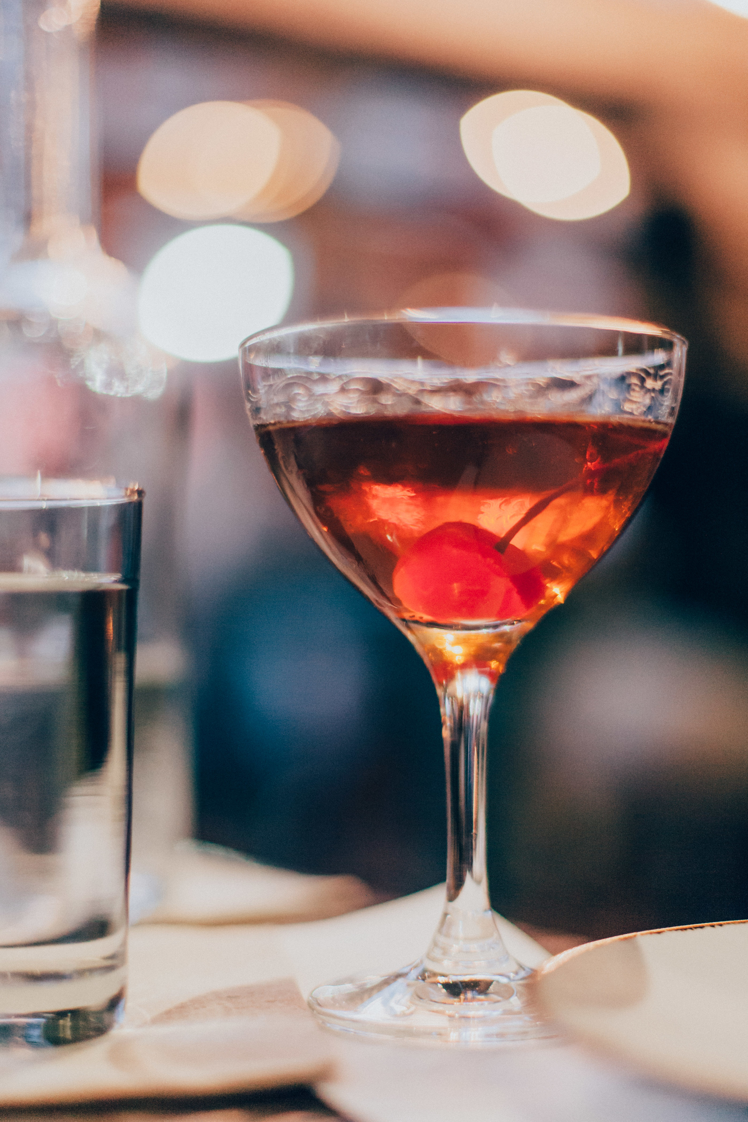 Swann Manhattan made with house-made sweet vermouth.